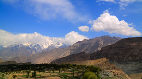 Sikt till det Rakaposhi maximumet, Karakorum berg, Pakistan Fotografering för Bildbyråer
