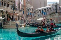 sikt till det Venetian hotellet, Las Vegas, USA Arkivbild