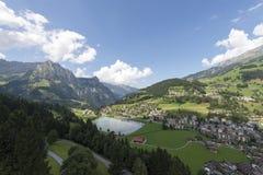 Sikt till Engelberg, Schweiz Royaltyfri Foto