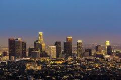 Sikt till i stadens centrum Los Angeles Arkivbilder