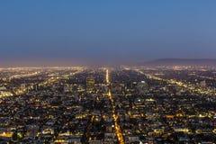 Sikt till i stadens centrum Los Angeles Arkivfoto