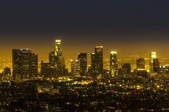 Sikt till i stadens centrum Los Angeles Arkivfoton