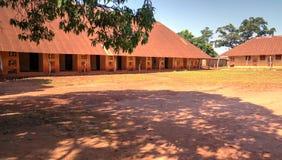 Sikt till kungliga slottar av Abomey, Benin arkivfoton
