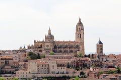 Sikt till mitten av Segovia, Spanien