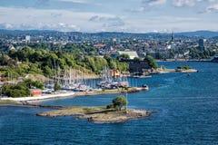 Sikt till Oslo Royaltyfri Fotografi