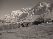 Sikt till Saentis, Schweiz Arkivfoton