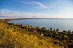 Sikt till sjön Balaton Royaltyfri Fotografi