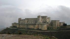 Sikt till slotten för Krak des-Chevaliers Royaltyfria Bilder