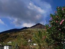Sikt till Stromboli Royaltyfri Foto