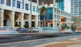 Sikt till Tel Aviv Fotografering för Bildbyråer