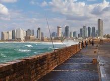 Sikt till Telet Aviv Royaltyfri Foto