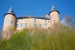 Sikt underifrån av den härliga Veves slotten Arkivfoton