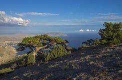Sikt uppifrån av berget. arkivfoto