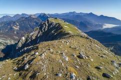 Sikt uppifrån av berget Begunjščica Royaltyfria Foton