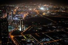 Sikt uppifrån av Burj Khalifa Arkivbilder