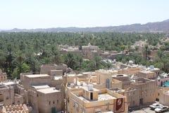 Sikt uppifrån av den Nizwa fortslotten, Oman Royaltyfri Bild
