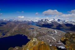 Sikt uppifrån av det norska berget Arkivbilder