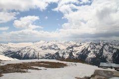 Sikt uppifrån av Musala berg Arkivbild