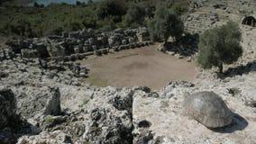 Sikt uppifrån av roman se för amfiteater lager videofilmer