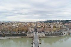 Sikt uppifrån av Sant Angelo Castel Royaltyfri Fotografi