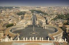 Sikt uppifrån av Vaticanen Arkivfoton