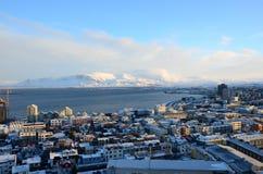 Sikt över Reykjavik Arkivfoton