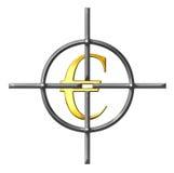 sikta euros vektor illustrationer