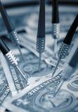 sikta finansiella pengar för dollar oss Arkivbild
