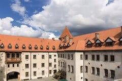 Siktar av Polen. Slott Bytow. Arkivfoto