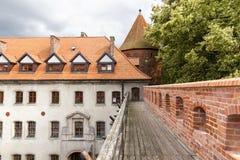 Siktar av Polen. Slott Bytow. Arkivbilder