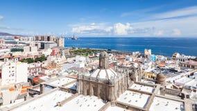Sikten över Santa Ana Cathedral i Las Palmas Royaltyfria Bilder