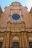 Sikten av abbotskloster av Santa Maria de Montserrat grundade i 1025, högt Fotografering för Bildbyråer