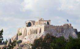 Sikten av akropolen vaggar arkivfoton