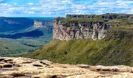 Sikten av bergskedjorna i miradoren av Morroen gör Pai Inacio arkivbilder
