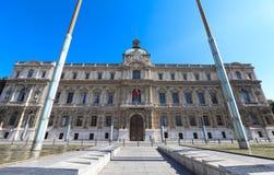Sikten av byggnaden av prefekturen av Marseille, Frankrike arkivbild