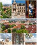 Sikten av den gamla staden, Prague, Tjeckien arkivfoto