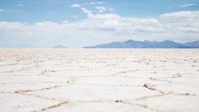 Sikten av det bolivianskt saltar lägenheter Fotografering för Bildbyråer