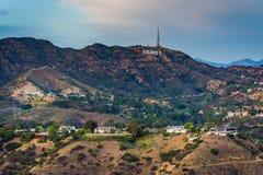 Sikten av det Hollywood tecknet från Hollywood Bowl förbiser royaltyfri bild