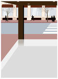 Sikten av det tomma lagret vektor illustrationer