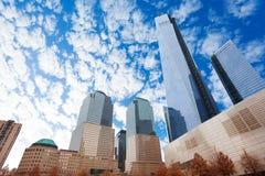 Sikten av en internationell handelmitt i New York Royaltyfri Bild