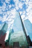 Sikten av en internationell handelmitt New York, USA Arkivfoto