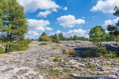 Sikten av ett geologiskt vaggar parkerar panorama Arkivbilder