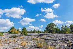 Sikten av ett geologiskt vaggar parkerar panorama Arkivfoton