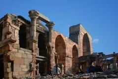 Sikten av fördärvar av Qutuben Minar Royaltyfria Bilder