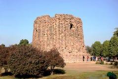 Sikten av fördärvar av Qutuben Minar Royaltyfri Fotografi