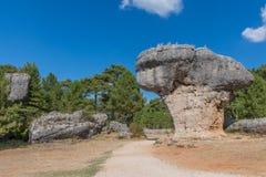 Sikten av geologiskt vaggar i ett berg parkerar Royaltyfria Foton