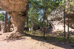 Sikten av geologiskt vaggar i ett berg parkerar Arkivfoto