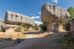 Sikten av geologiskt vaggar i ett berg parkerar Arkivfoton