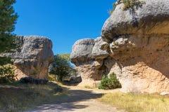 Sikten av geologiskt vaggar i ett berg parkerar Royaltyfria Bilder