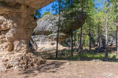Sikten av geologiskt vaggar i ett berg parkerar Arkivbilder